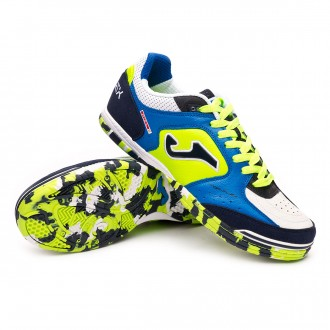 Futsal Boot  Joma Top Flex White-Blue-Lime