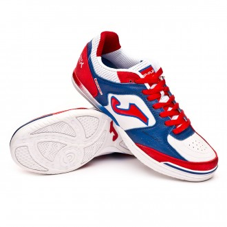 Futsal Boot  Joma Top Flex White-Blue-Red