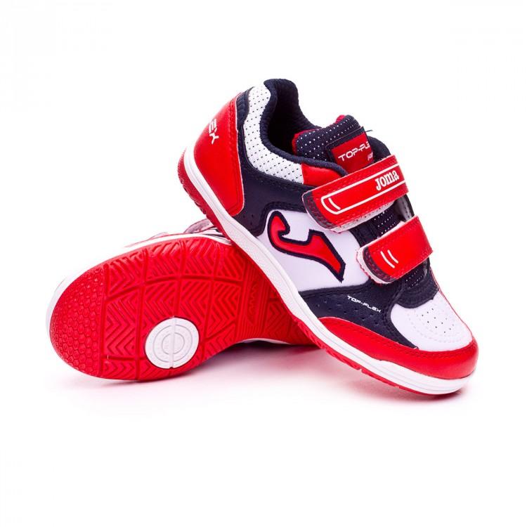 Futsal Boot Joma Kids Top Flex Velcro White-Blue-Red - Football ... e4f51fe04f915