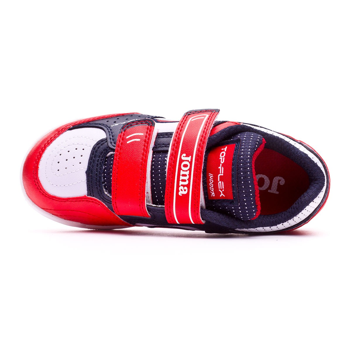 e676f513f17 Futsal Boot Joma Kids Top Flex Velcro White-Blue-Red - Tienda de fútbol  Fútbol Emotion