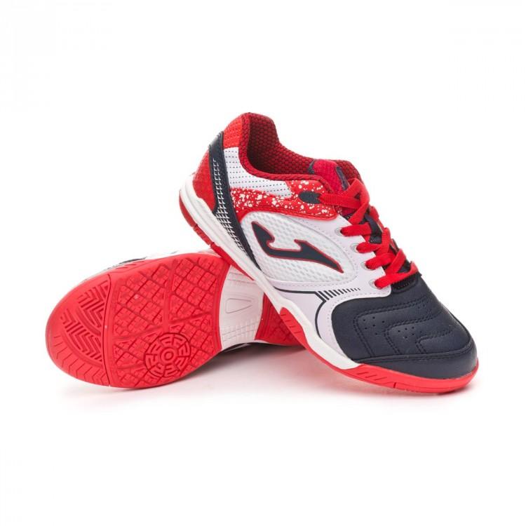 Zapatilla Joma Dribling Niño White-Red - Leaked soccer 101ecd3582da5
