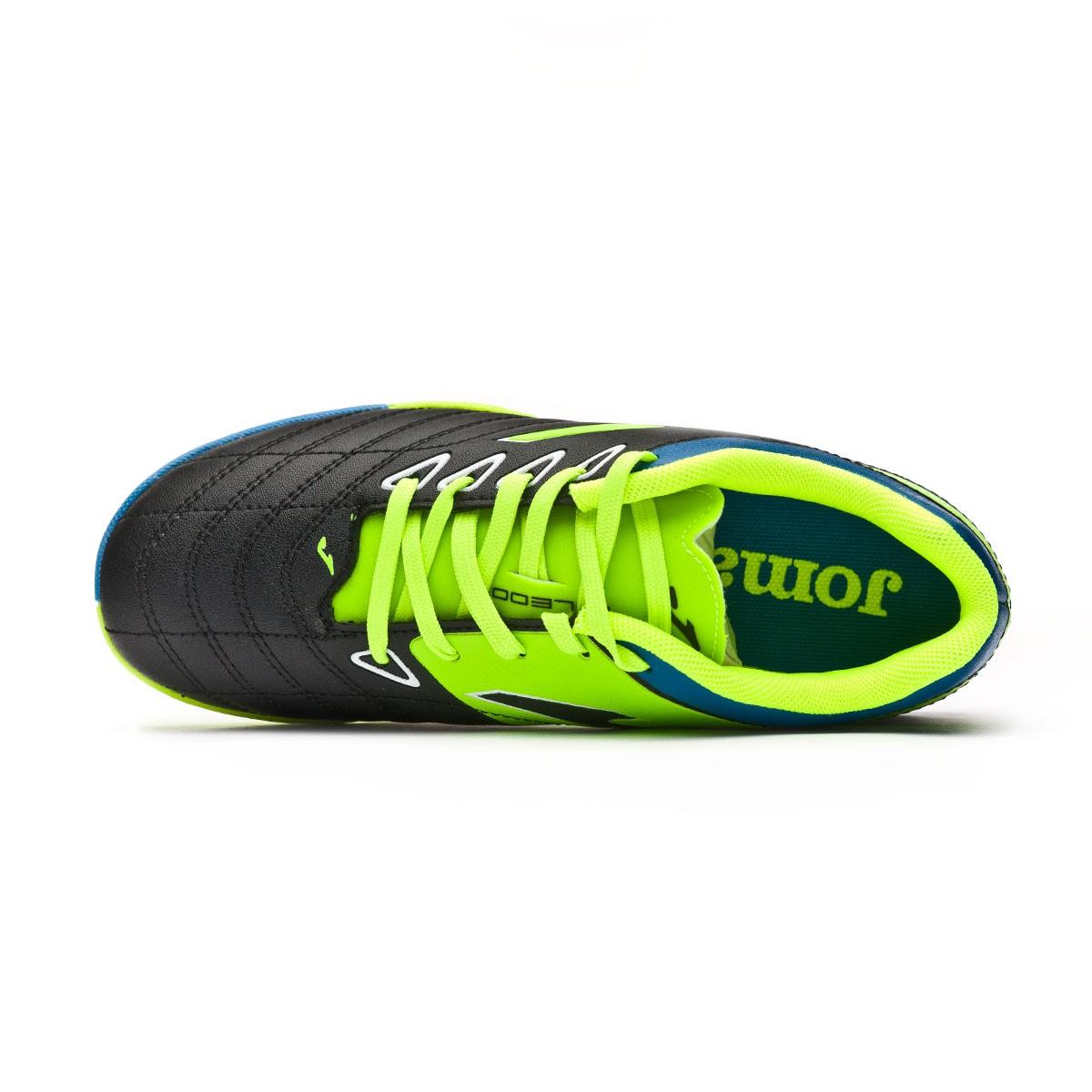 Football Boot Joma Kids Toledo Turf Black-Lime - Leaked soccer d649a651670ae