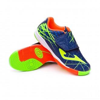 Chaussure de futsal  Joma Champion IN Velcro Niño Navy-Green-Yellow