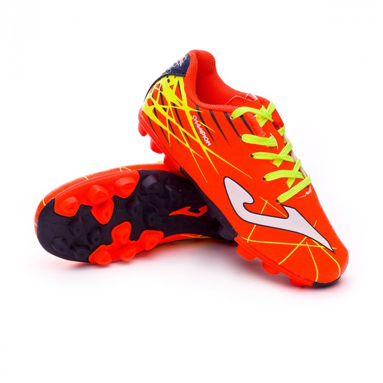 3e8606aab4830 Boot Joma Kids Champion AG Orange-Yellow - Football store Fútbol Emotion