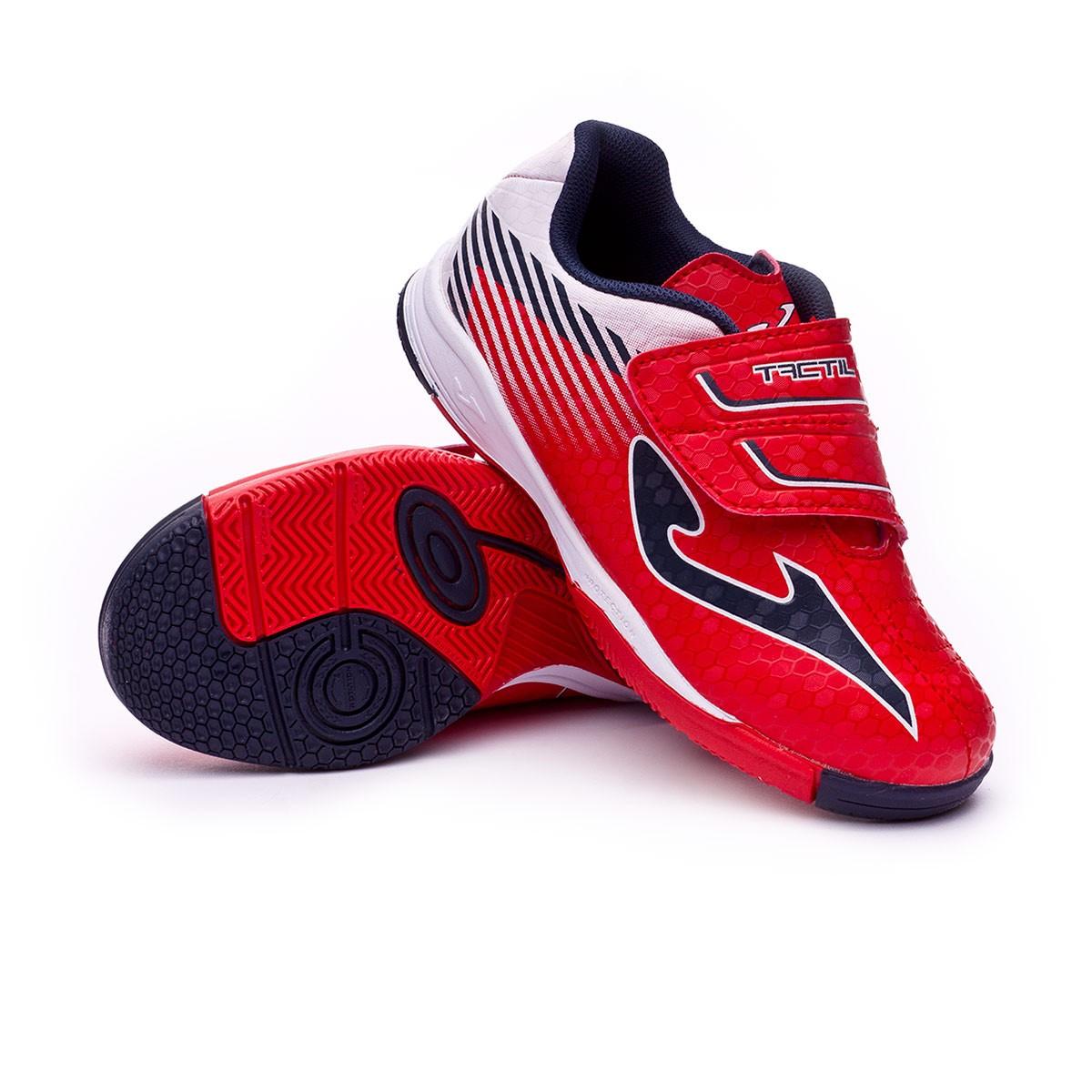 Zapatilla Joma Tactil IN Velcro Niño Red-White - Soloporteros es ... 8e719be6ccacd