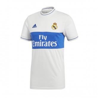 Camiseta  adidas ICON Real Madrid 2017-2018 White-Bold blue