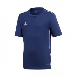 Camiseta  adidas Core 18 Training m/c Niño Dark blue-White