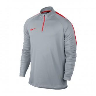Sudadera  Nike Dry Academy Football Wolf grey-Light crimson
