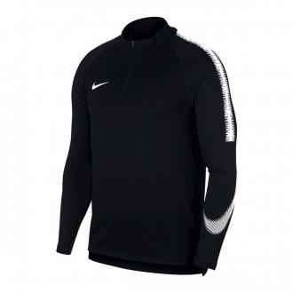 Sudadera  Nike Dry Squad Niño Black-White