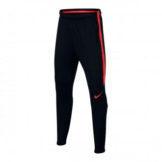 Pantalón largo  Nike Dry Squad Niño Black-Light crimson
