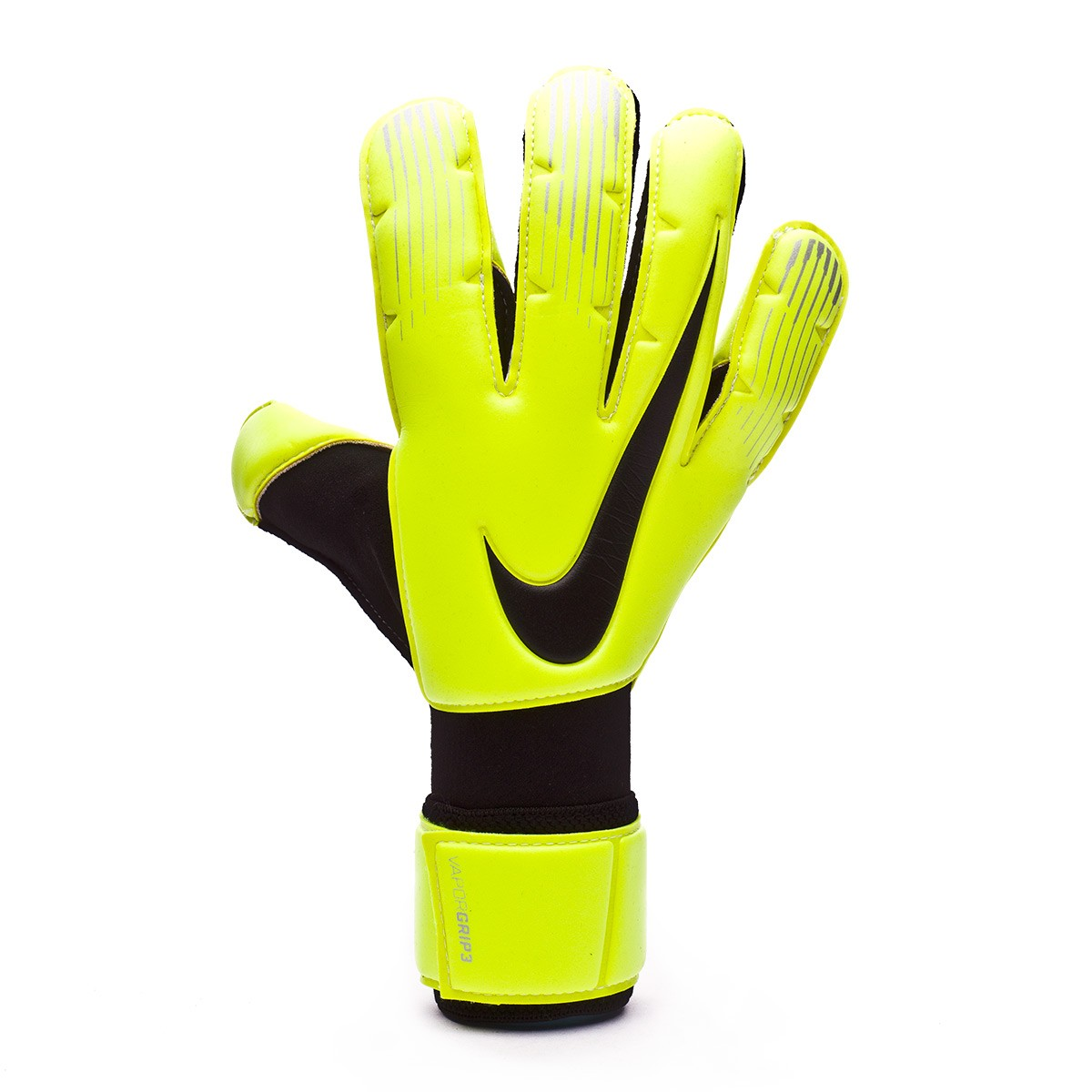 Cerdo paquete Mitones  Glove Nike Vapor Grip 3 Volt-Black - Football store Fútbol Emotion