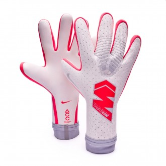 Glove  Nike Mercurial Touch Elite Pure platinum-Light crimson