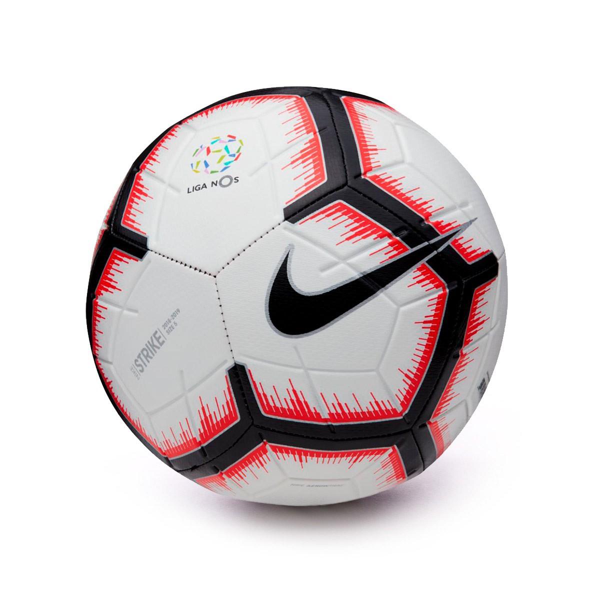 bf0e2a17f3 Ball Nike Liga NOS Strike 2018-2019 White-Bright crimson-Black ...