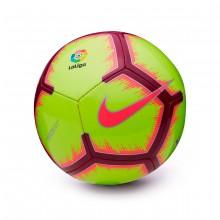 Balón La Liga Pitch 2018-2019 Volt-Pink flash-Team red