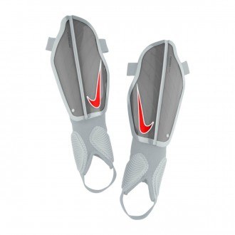 Shinpads  Nike Kids Protegga Flex  Wolf grey-Pure platinum-Bright crimson