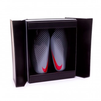 Espinillera  Nike Attack CF Elite Carbon-Wolf grey-Bright crimson