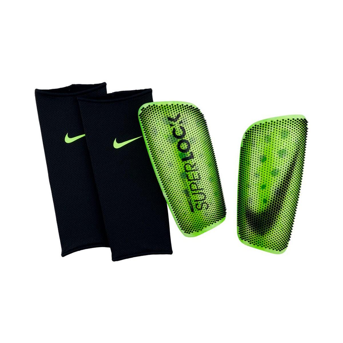 Shinpads Nike Mercurial Lite SuperLock Volt-Black - Football store ... 40a1dc21ff7