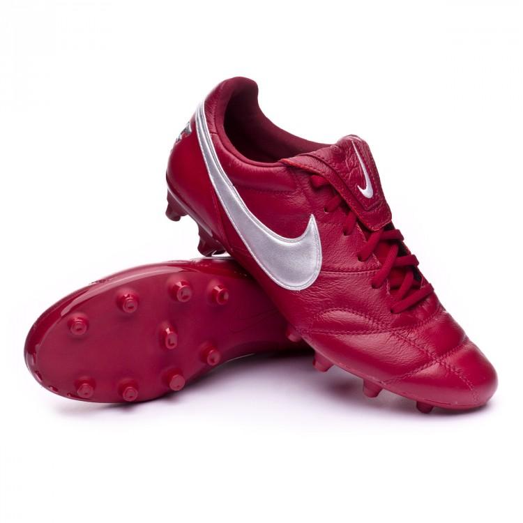 timeless design ba824 4d696 bota-nike-premier-ii-fg-team-red-metallic-