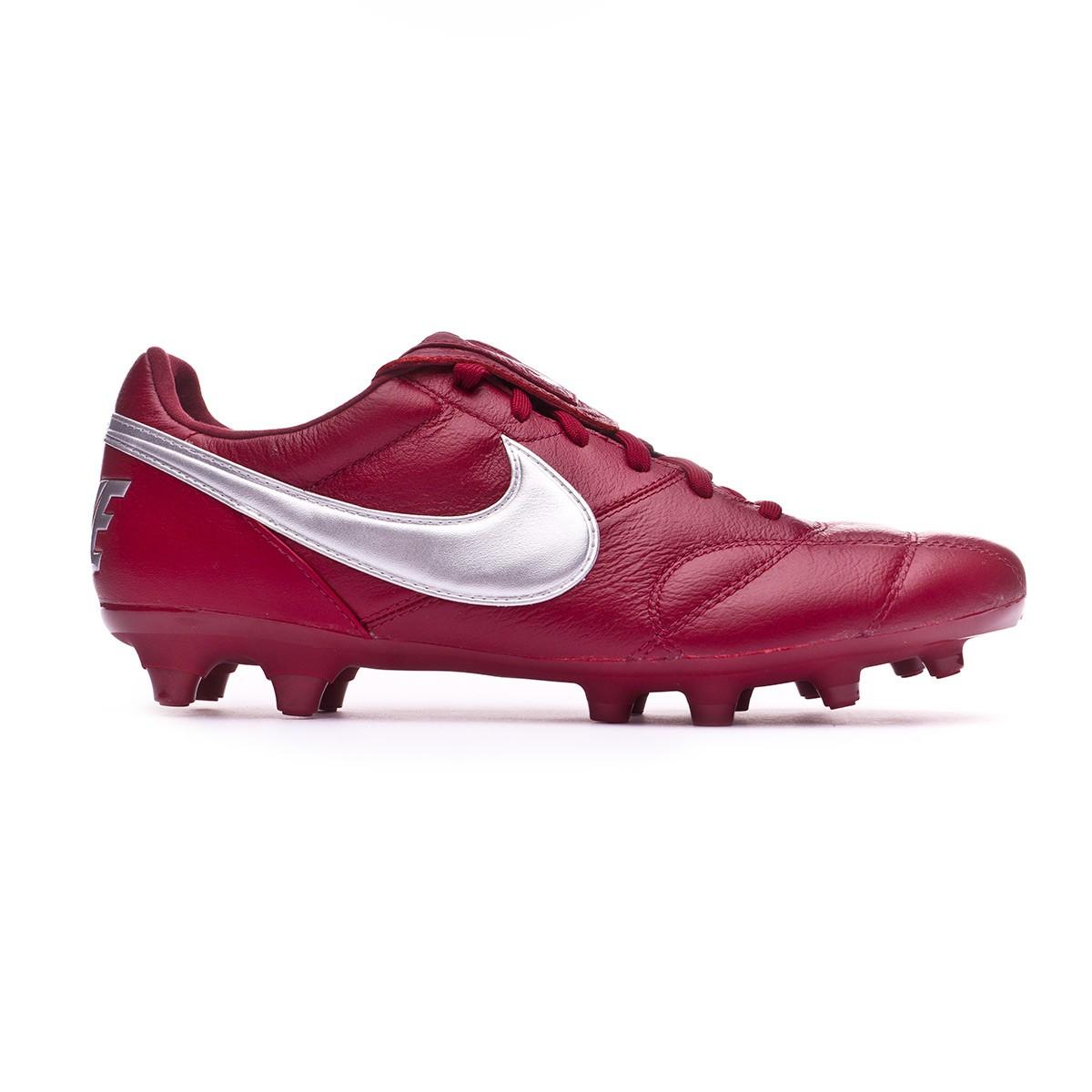 fcfd2ff43e16 Football Boots Nike Tiempo Premier II FG Team red-Metallic silver -  Football store Fútbol Emotion