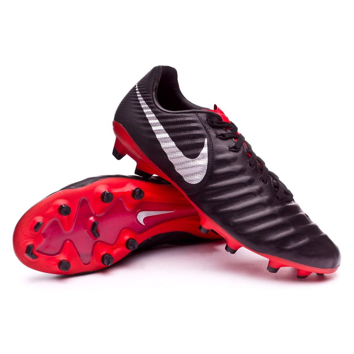 371326da6c857 Football Boots Nike Tiempo Legend VII Pro FG Black-Metallic silver-Light  crimson - Football store Fútbol Emotion