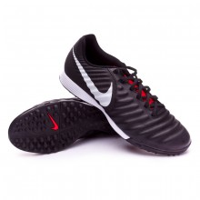 Zapatilla Tiempo LegendX VII Academy Turf Black-Pure platinum-Light crimson