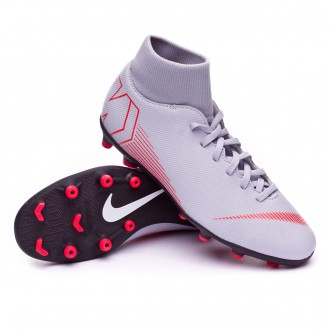 Boot  Nike Mercurial Superfly VI Club MG Wolf grey-Light crimson-Black
