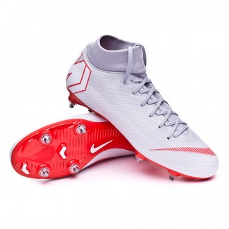 Chuteira  Nike Mercurial Superfly VI Academy SG-Pro Wolf grey-Light crimson-Pure platinum
