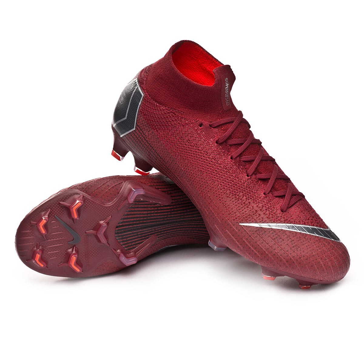 d4cf6b720b4 Football Boots Nike Mercurial Superfly VI Elite FG Team red-Metallic ...