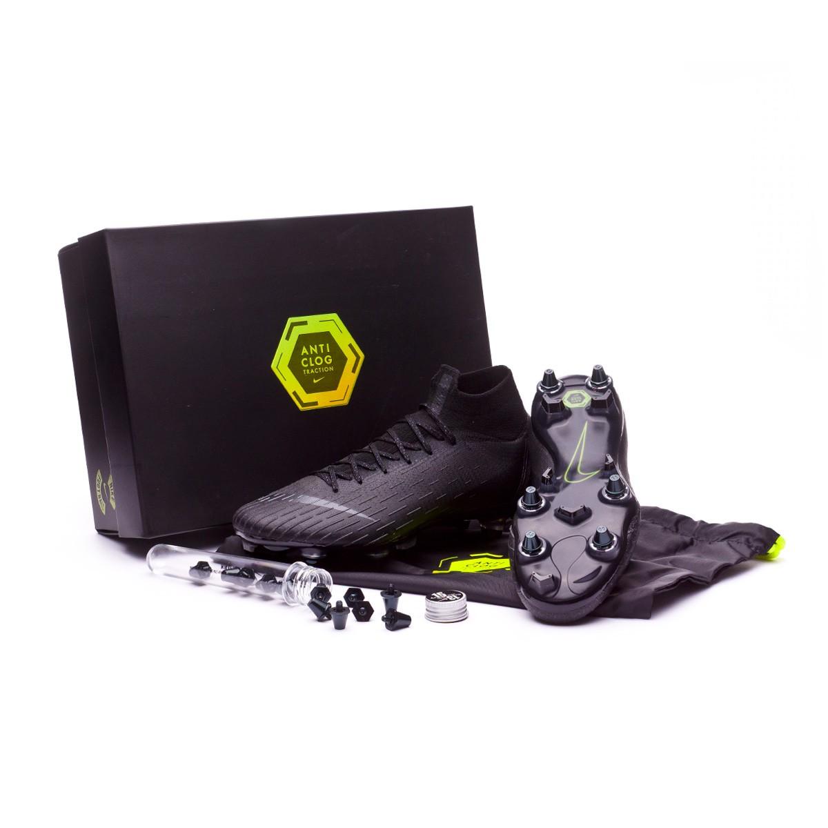 sneakers for cheap 65122 7260a Bota Mercurial Superfly VI Elite Anti-Clog SG-Pro Black