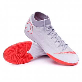 Futsal Boot  Nike Mercurial SuperflyX VI Academy IC Wolf grey-Light crimson-Pure platinum