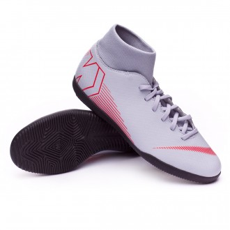 Futsal Boot  Nike Mercurial SuperflyX VI Club IC Wolf grey-Light crimson-Black