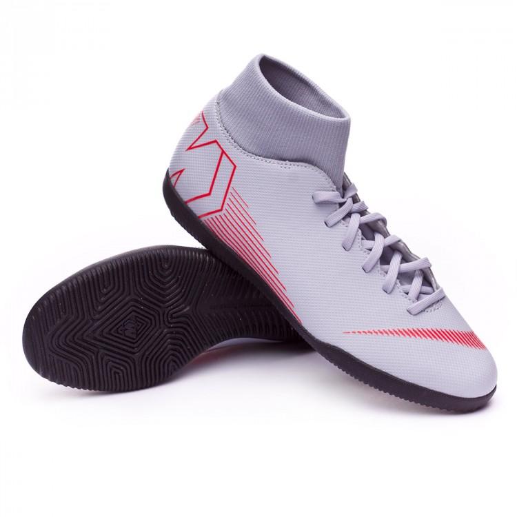 Tenis Nike Mercurial SuperflyX VI Club IC Wolf grey-Light crimson ... 412f1c32bfa94