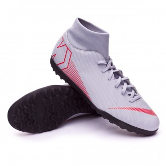 Football Boot  Nike Mercurial SuperflyX VI Club Turf Wolf grey-Light crimson-Black