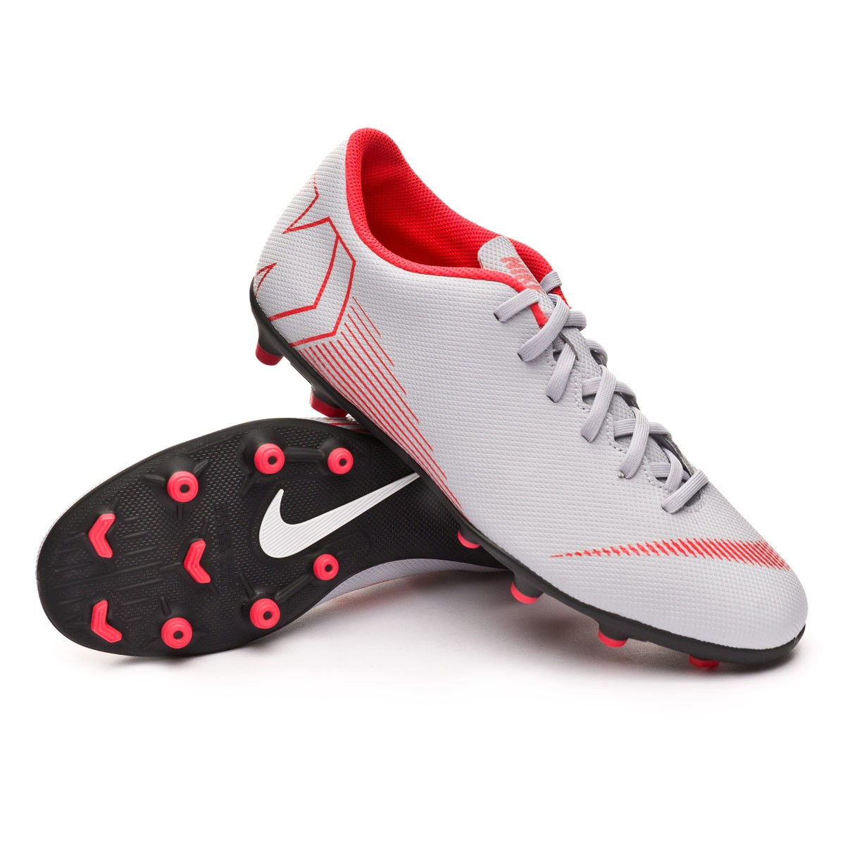 c3ce7ccfbaa Boot Nike Mercurial Vapor XII Club MG Wolf grey-Light crimson-Black ...