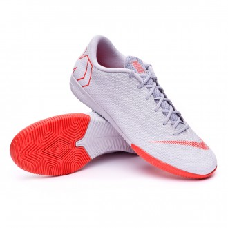 Futsal Boot  Nike Mercurial VaporX XII Academy IC Wolf grey-Light crimson-Pure platinum
