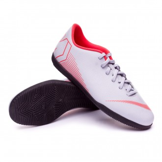 Futsal Boot  Nike Mercurial VaporX XII Club IC Wolf grey-Light crimson-Black