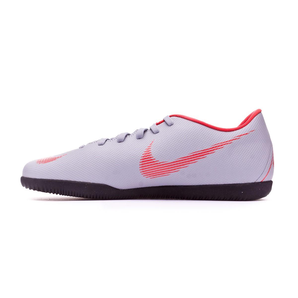 f0993c96b7c Futsal Boot Nike Mercurial VaporX XII Club IC Wolf grey-Light crimson-Black  - Football store Fútbol Emotion