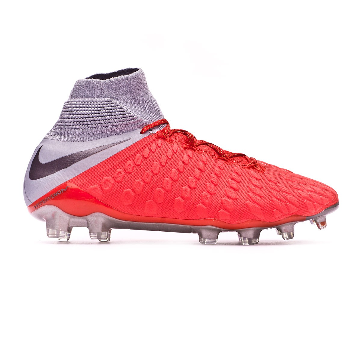 f3dab164bc1 Football Boots Nike Hypervenom Phantom III Elite DF FG Light crimson-Metallic  dark grey-Wolf grey - Tienda de fútbol Fútbol Emotion