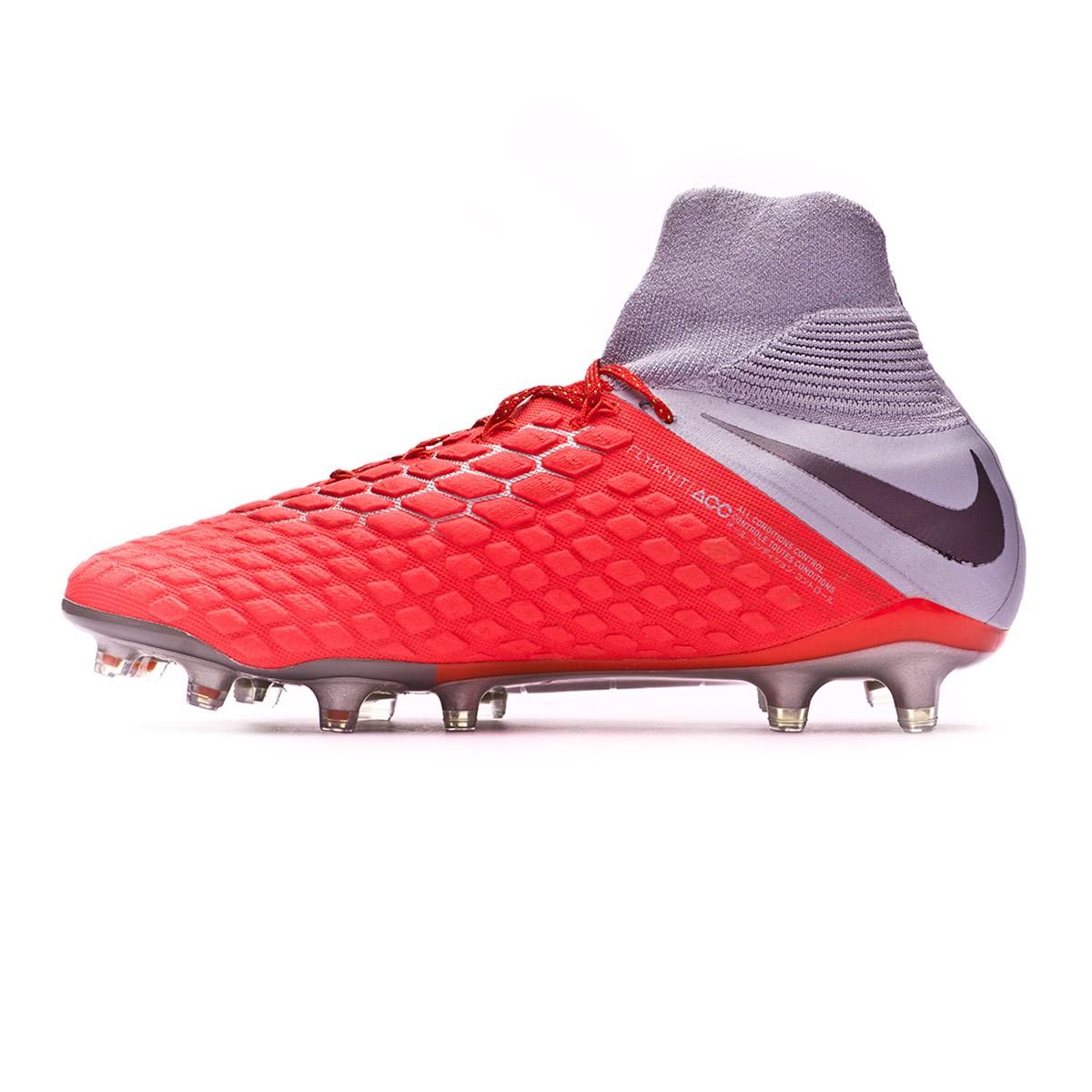 dc0fe8bff Football Boots Nike Hypervenom Phantom III Elite DF FG Light  crimson-Metallic dark grey-Wolf grey - Tienda de fútbol Fútbol Emotion