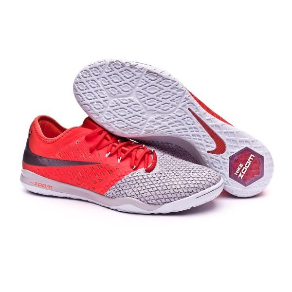 4a9d55e35 Futsal Boot Nike Hypervenom Zoom PhantomX III Pro IC Wolf grey-Metallic  dark grey-Light crimson - Football store Fútbol Emotion