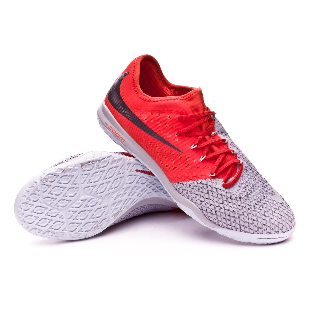 Sombra Religioso pared  Futsal Boot Nike Hypervenom Zoom PhantomX III Pro IC Wolf grey-Metallic  dark grey-Light crimson - Football store Fútbol Emotion