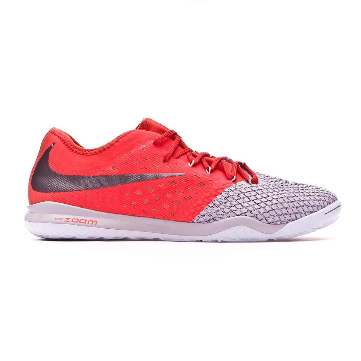 e9fdf4a2c611 Futsal Boot Nike Hypervenom Zoom PhantomX III Pro IC Wolf grey-Metallic  dark grey-Light crimson - Football store Fútbol Emotion