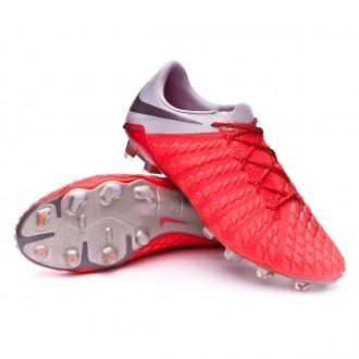 Bota  Nike Hypervenom Phantom III Elite FG Light crimson-Metallic dark grey-Wolf grey