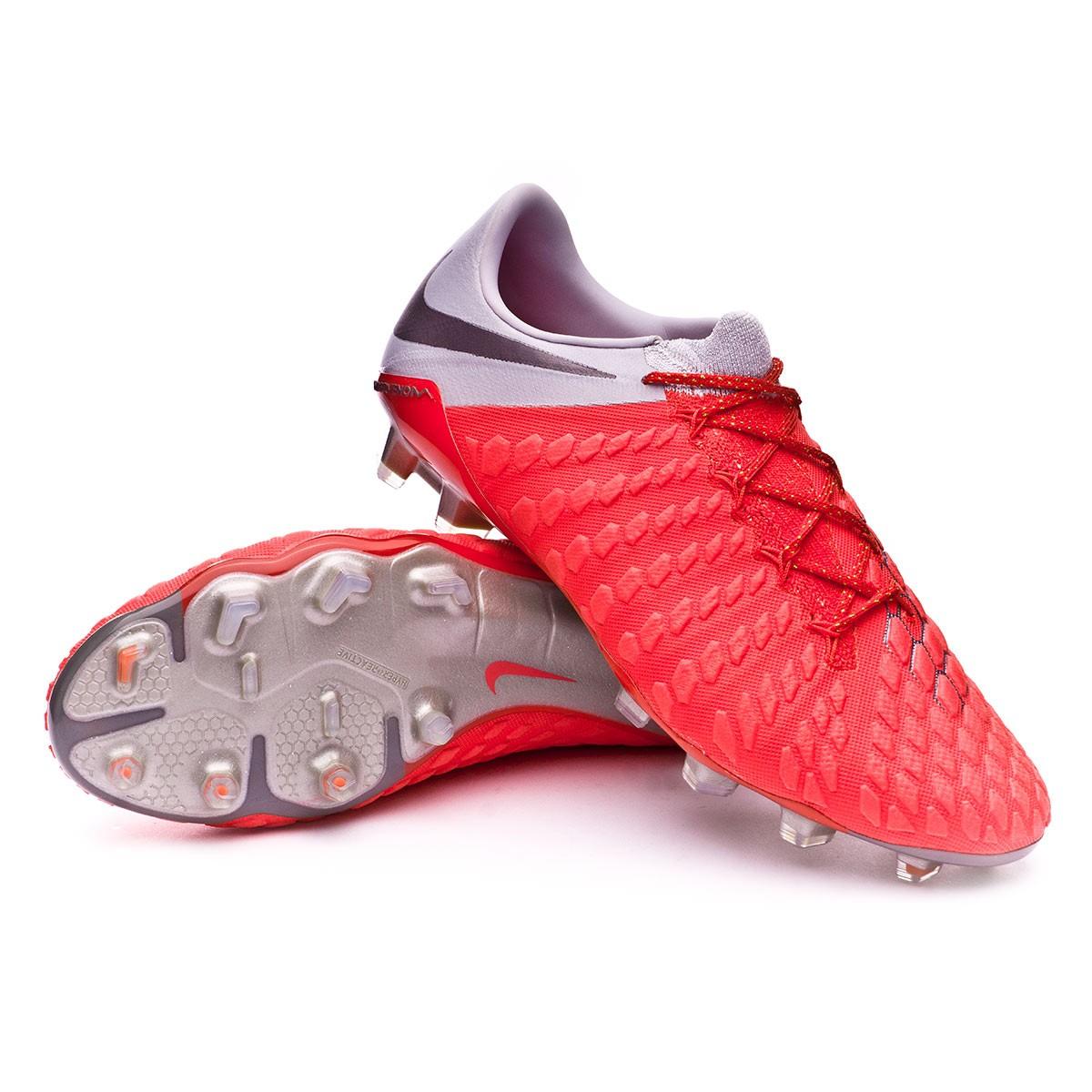 ec4725028de Nike Hypervenom Phantom III Elite FG Football Boots. Light crimson-Metallic  dark grey-Wolf ...