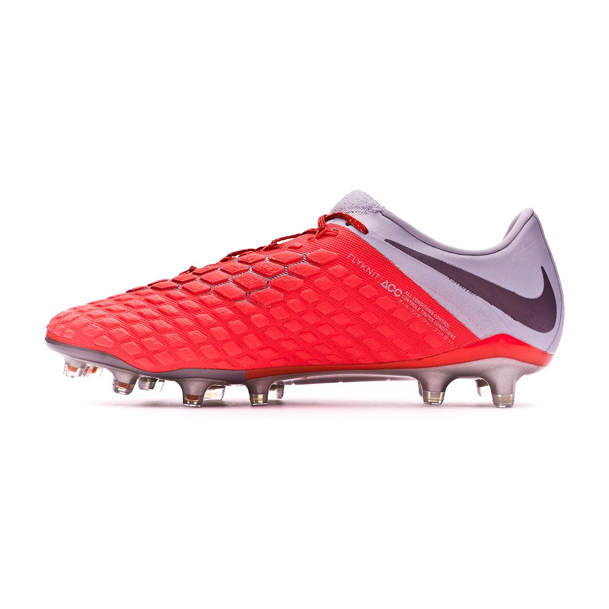 e37247e5a82 Football Boots Nike Hypervenom Phantom III Elite FG Light crimson-Metallic  dark grey-Wolf grey - Tienda de fútbol Fútbol Emotion