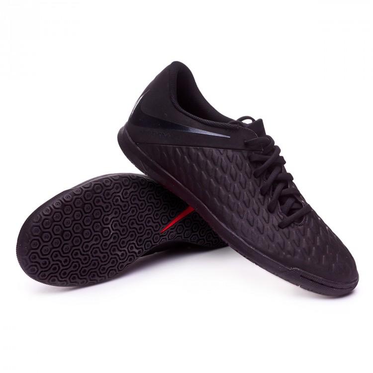 Futsal Boot Nike Hypervenom PhantomX III Club IC Black - Football ... 8cd06e36d2a56