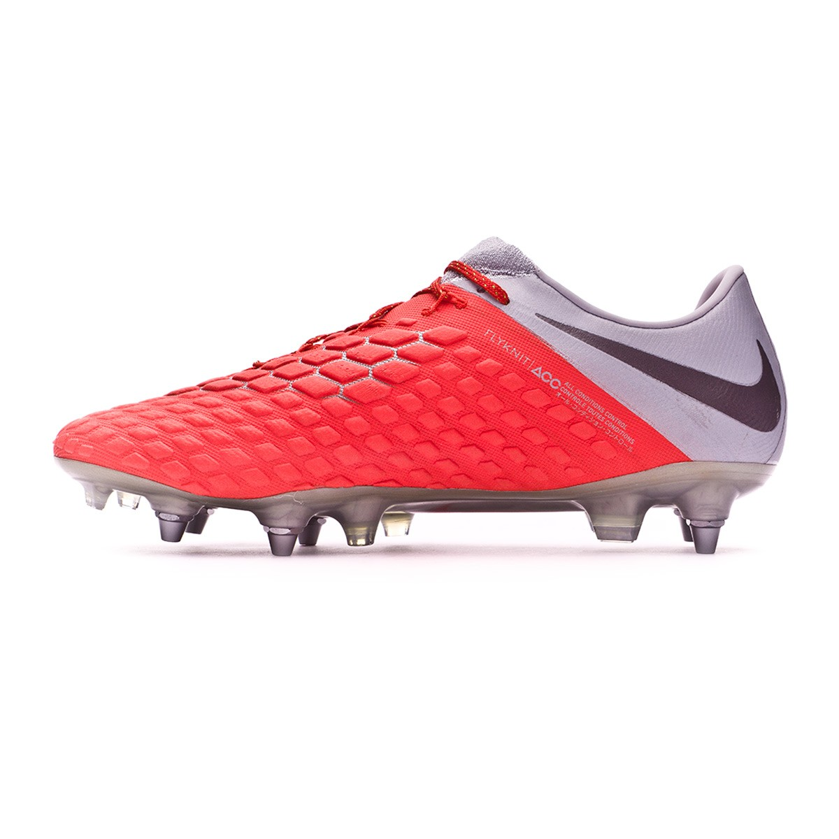 outlet store 071c3 5f203 Football Boots Nike Hypervenom Phantom III Elite Anti-Clog SG-Pro Light  crimson-Metallic dark grey-Wolf grey - Football store Fútbol Emotion