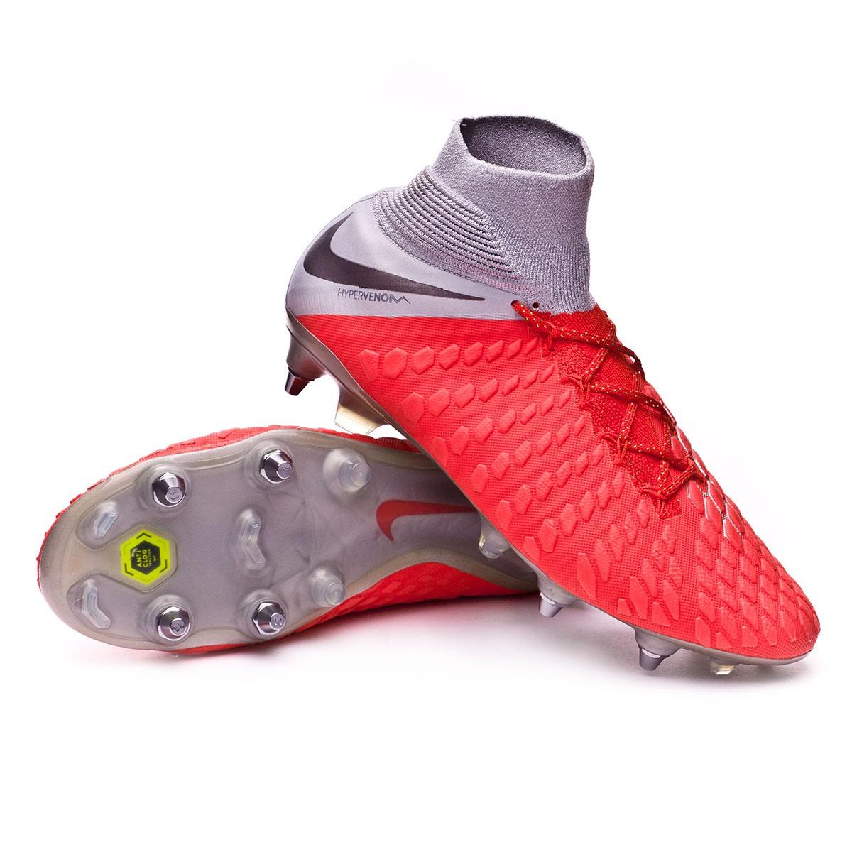 818397e7ce3d Football Boots Nike Hypervenom Phantom III Elite DF Anti-Clog SG-Pro Light  crimson-Metallic dark grey-Wolf grey - Football store Fútbol Emotion