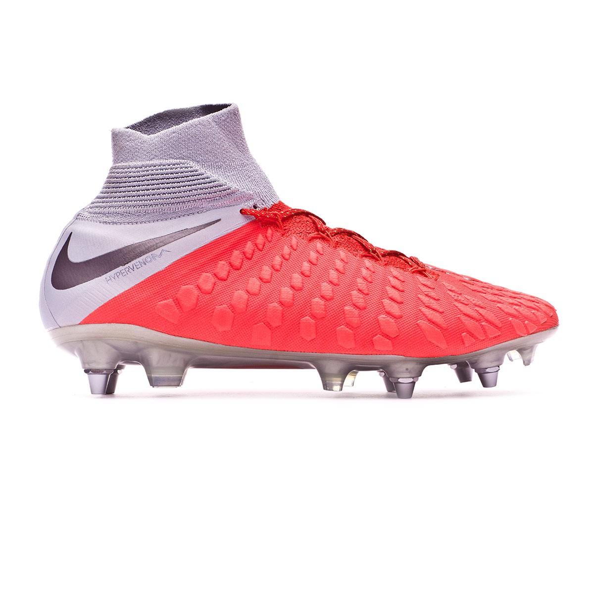 sale retailer e1c0f 5d82b Football Boots Nike Hypervenom Phantom III Elite DF Anti-Clog SG-Pro Light  crimson-Metallic dark grey-Wolf grey - Football store Fútbol Emotion