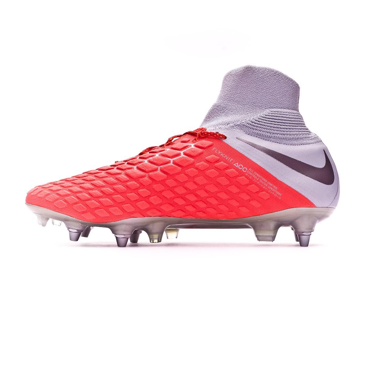 d9fbe76c4 Football Boots Nike Hypervenom Phantom III Elite DF Anti-Clog SG-Pro Light  crimson-Metallic dark grey-Wolf grey - Football store Fútbol Emotion